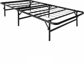 lUCID Foldable Metal Platform Bed Frame and Mattress Foundation Full Retail 97 49