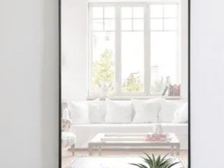 Carson Carrington Salsnas Metal Frame Rectangular Mirror  Retail 155 49