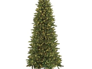 Null  Puleo International 9 ft  Pre lit Slim Fraser Fir Artificial Christmas Tree 800 Ul listed Clear lights  Retail 256 99