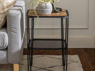 Dark Walnut Carbon loft Ogle Urban Hairpin Side Table   Retail 85 49
