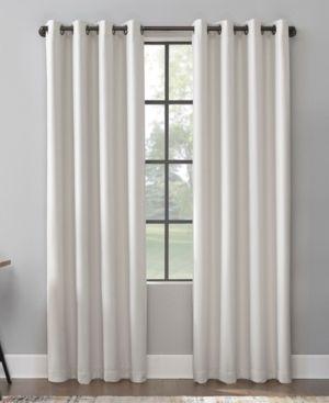 Scott living Mavis Herringbone Total Blackout Grommet Curtain Panel