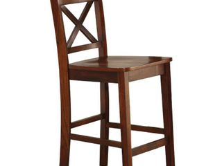 ACME Tartys Counter Height Chair  Cherry  Set of 2  Retail 149 99