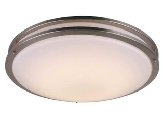 Nickel lED Flush Mount Ceiling light in Brushed Nickel  Retail 97 99