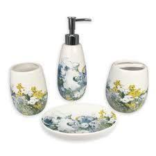 Anna blue 4 pcs bath accessories set