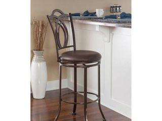 Khalifah Metal Swivel Bar Stool with Coffee Brown Seat  Retail 108 49