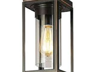 Eglo lighting Walker Hill   One light Outdoor Flush Mount Oil Rubbed