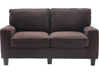 Serta Palisades Upholstered 61  loveseat Modern Design  Straight Arms  Retail 352 99