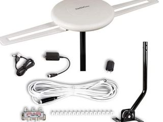 150 Miles TV Antenna Outdoor Omni directional 360 Degree Reception with Amplified Antenna