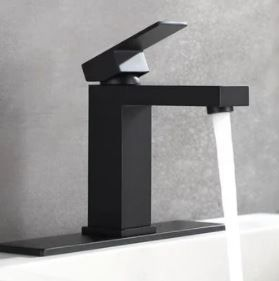 Black Single Hole Vessel Sink Faucets with Deck Plate  Retail 85 99