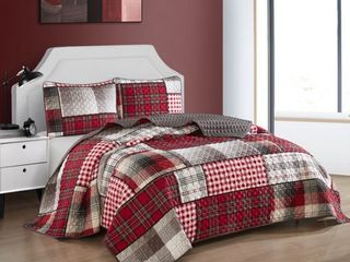 Nanshing Alanis 3 Piece Reversible Quilt Set  Multi Colored  Queen