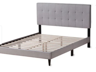 Copper Grove Ayrum Upholstered Bed Frame with Square Tufted Headboard  Retail 229 99