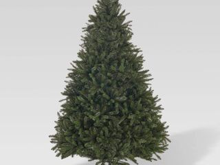 9 foot Norway Spruce Pre lit String light or Unlit Hinged Artificial Christmas Tree by Christopher Knight Home  Retail 332 99