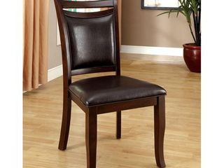 Furniture of America Zita Contemporary Espresso Side Chairs  Set of 2    Retail 237 49