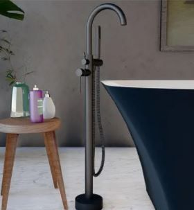 Neptune Single Handle Floor Mounted Gooseneck Freestanding Tub Filler  Retail 207 99