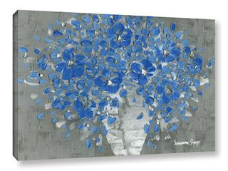 ArtWall Susanna Shaposhnikova s Blue Bouquet  Gallery Wrapped Canvas Retail 102 49