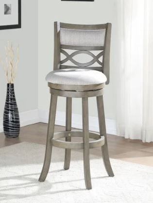 Manchester Antique Grey 29 inch Bar Stool with Fabric Seat Retail 152 49