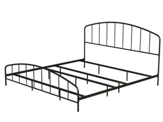 Hillsdale Furniture Tolland Arched Spindle Black Metal King Bed