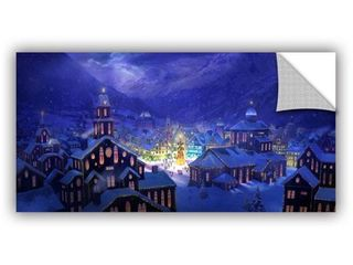 12x24  ArtWall Philip Straub  Christmas Town  Art Appealz Removable Wall Art