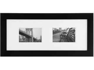 8x19 Black Gallery Wood Matter Frame