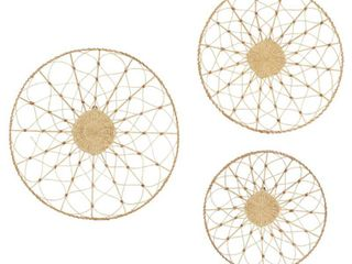 28 x 5 x 28 Round Rattan Wall Decor 20 24  28  Set of 3 Retail 76 98