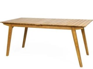 Mariposo Outdoor Rustic Acacia Wood Dining Table by Christopher Knight Home   68 50  W x 31 50  D x 30 00  H Retail 225 49