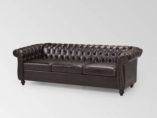 Parksley Tufted Chesterfield Faux leather Sofa by Christopher Knight Home Retail 609 99