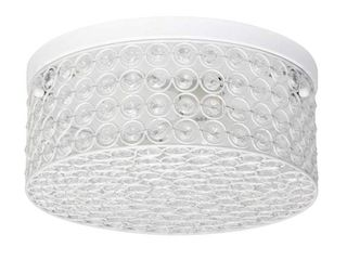 Elegant Designs Elipse Crystal 2 light Round Ceiling Flush Mount