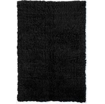 linon Flokati Super Heavy Black Area Rug  7  x 10    7  x 10  Retail 552 99