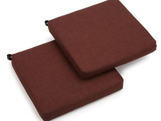 Cocoa Blazing Needles 19 inch All Weather Chair Cushion  Set of 2  19 x 19