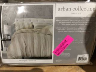Tan Ivory   Queen  Heron 3pc Duvet Set Retail 113 99