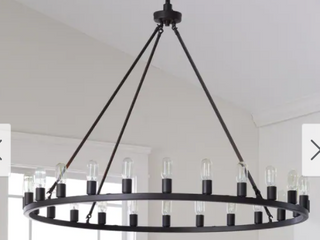 The Gray Barn Hemsworth Oil Rubbed Bronze 24 light Chandelier Retail 535 99