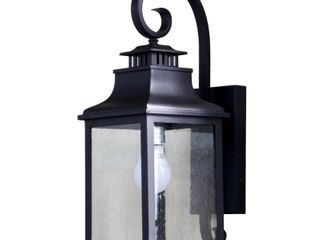 Rockies Containers Morgan 1 light Black Outdoor Wall lantern Sconce