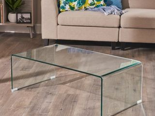 Ramona Glass Rectangle Coffee Table by Christopher Knight Home Retail 219 99