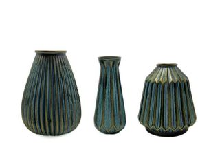 Multi  Handcrafted 4 Home Decorative Painted Glass Vase  Set of 3  Retail 106 49  Retail 106 49