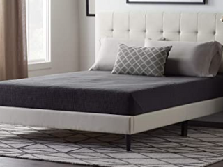 Upholstered Square Tufted Platform Bed Cal King Pearl