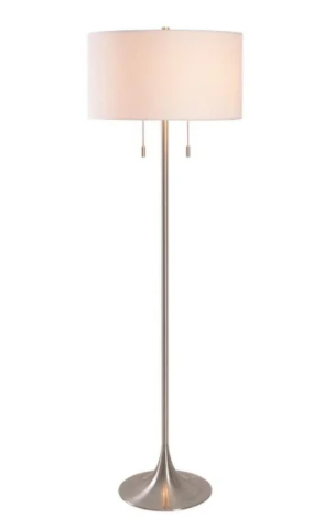 Kent 61 inch Brushed Steel Floor lamp Retail 148 99