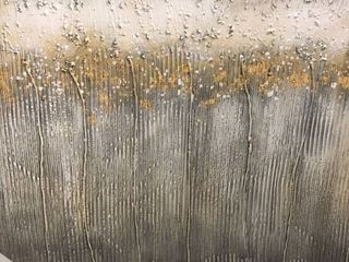 Strick   Bolton Hand painted Gold  Grey Abstract Wall Art Retail 113 49