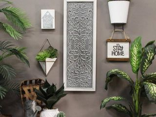 Stratton Home Decor Metal Embossed Panel Wall Decor
