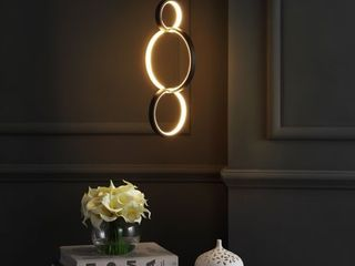 Jonathan Y loop Adjustable Integrated led Metal Ring Pendant
