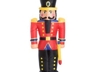 6  Tall Outdoor lighted Airblown Inflatable Christmas lawn Decoration   Nutcracker Toy Soldier