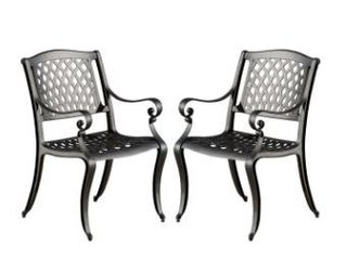 Windley Outdoor Expandable Aluminum Dining Chairs by Christopher Knight Home