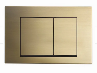 Brushed Brass  Swiss Madison Wall Mount Toilet Actuator Flush Push button Plate