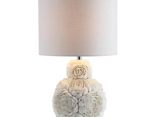 Seashell Rosette 24  lED Table lamp  Cream