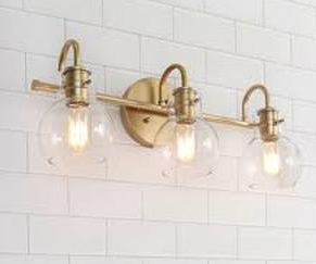 Carson Carrington Gold Bathroom Vanity lighting Wall Sconces for Powder Room   l22 x W7 x H9  Retail 128 99