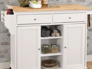 Copper Grove Dianthus White MDF Kitchen Cart Retail 469 99