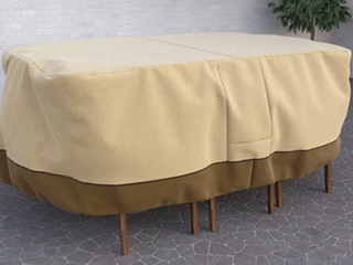 Dura Covers Fade Proof Rectangular Medium Table Set Cover  Beige Brown 88 x58 23