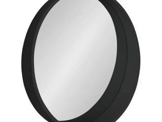 Black  Kate and laurel Wheeler Round Framed Wall Mirror   24  Diameter Retail 119 99