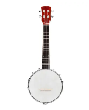 Red  Exquisite Professional 4 string Banjo Set Wood Color Retail 89 99