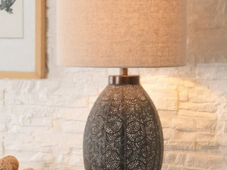 Distressed Bronze  Bobbi Distressed Bronze 30 Inch 3 Way Table lamp Retail 127 49