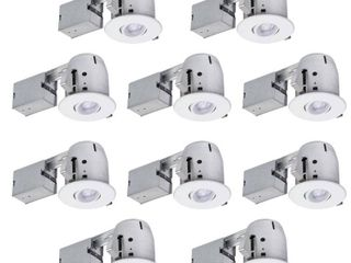 Globe Electric 90540 4 Inch Recessed lighting Kit Combo Pack 10 Pack  White